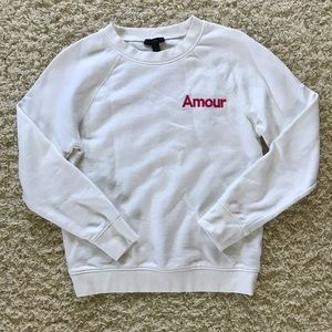 J Crew White Sweatshirt. Size small.